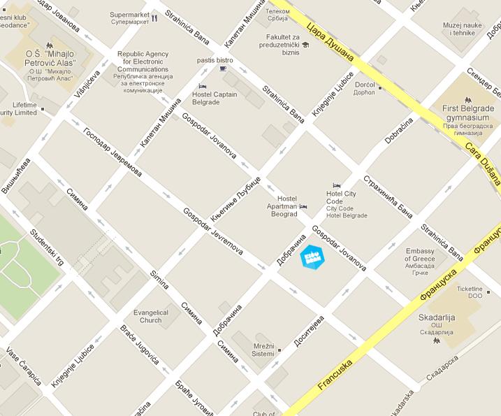 mapa geca disko