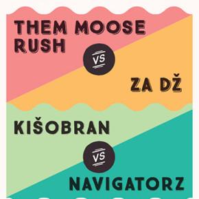 Gradski klinč - Them Moose Rush + Za Dz & Kišobran vs. Navigatorz Bgd // Subota 21. mart, 21h // Kc Grad
